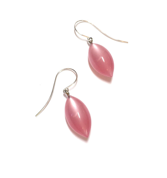 pastel pink drop earrings