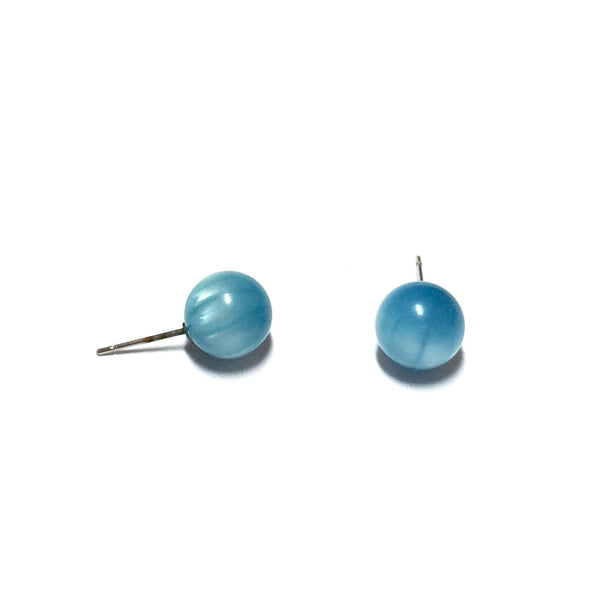 turquoise stripe moonglow earrings