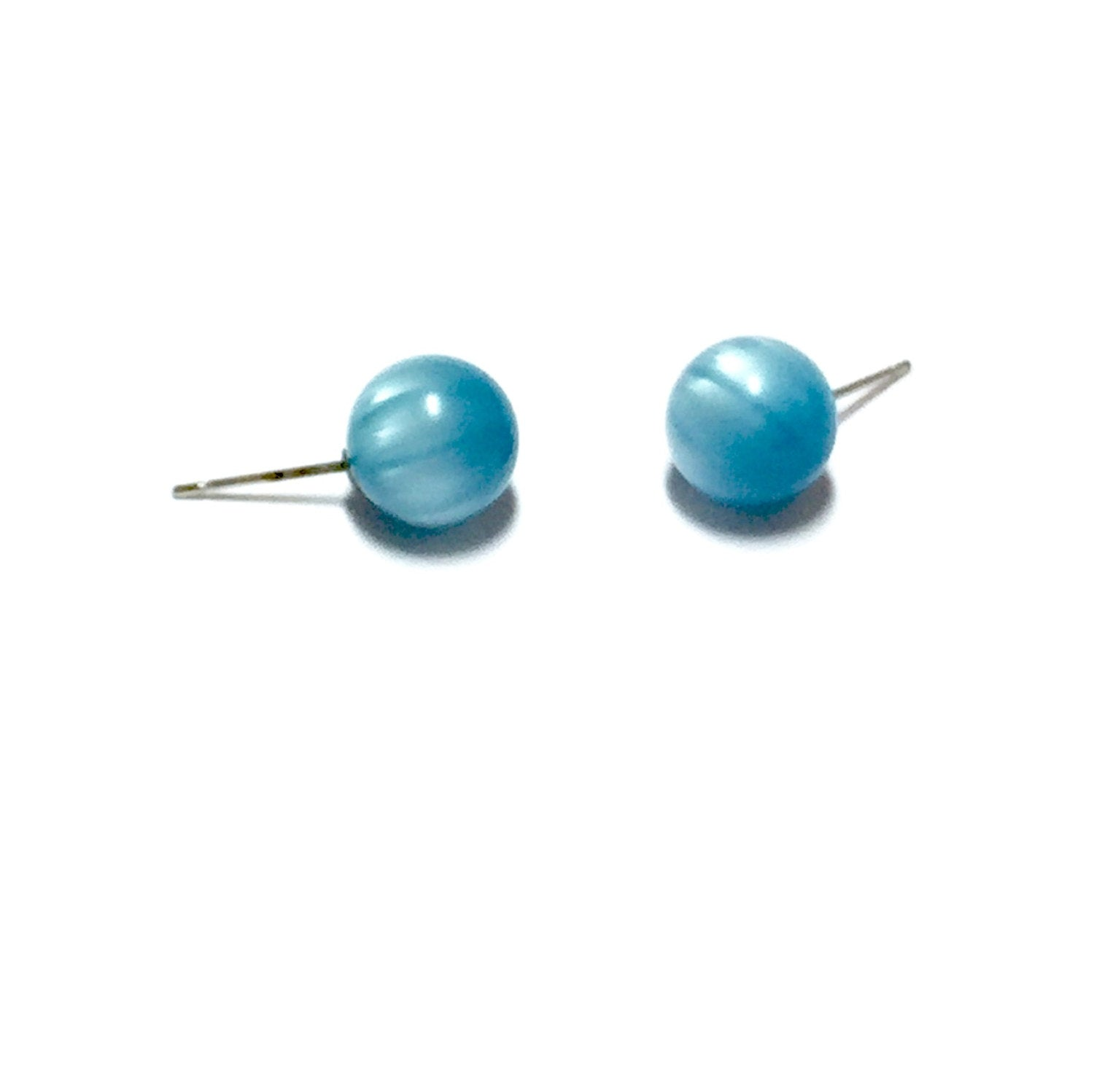 stripe moonglow studs aqua