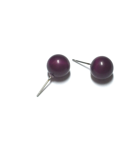 eggplant moonglow earrings