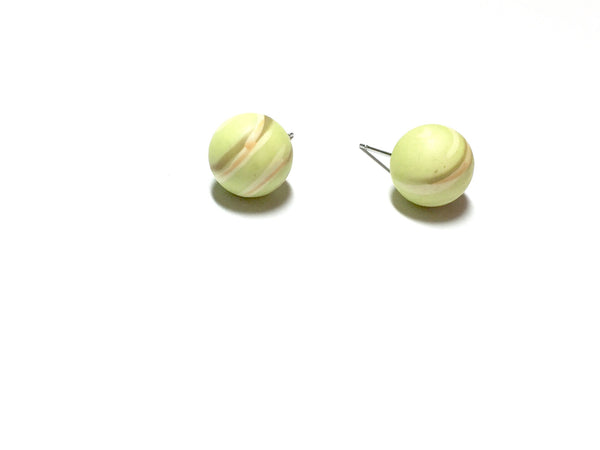 bright green stripe earrings