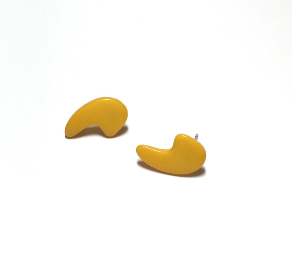 yellow punctuation earrings