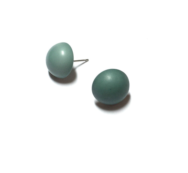 vintage plastic earrings teal