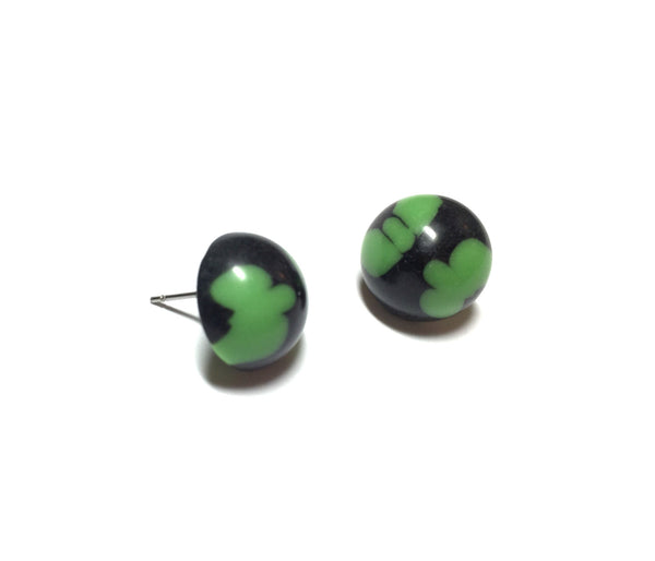 green black lucite studs