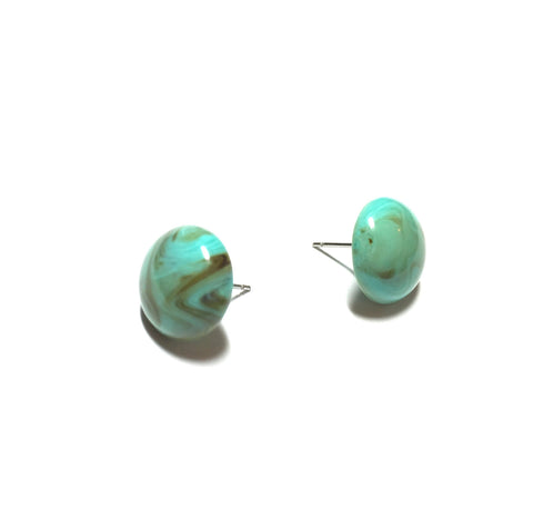marbled turquoise studs