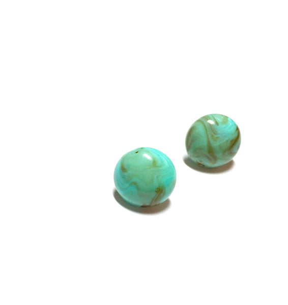 turquoise lucite stud earrings