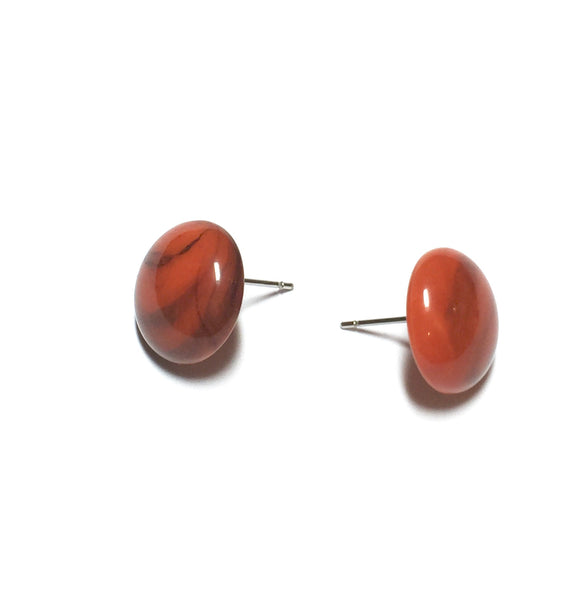retro lucite coral earrings