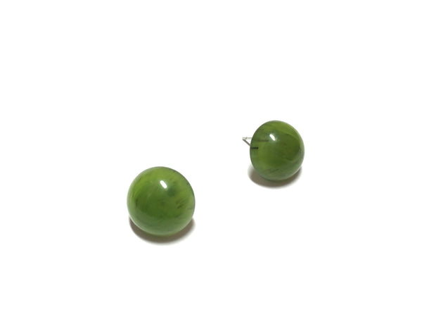 lucite green earrings