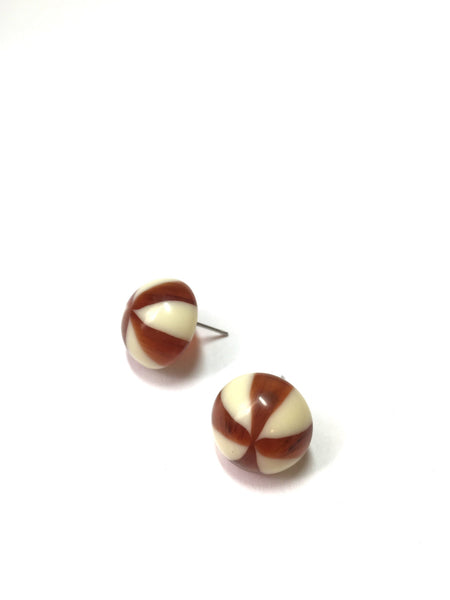 ivory tortoise stripe earrings