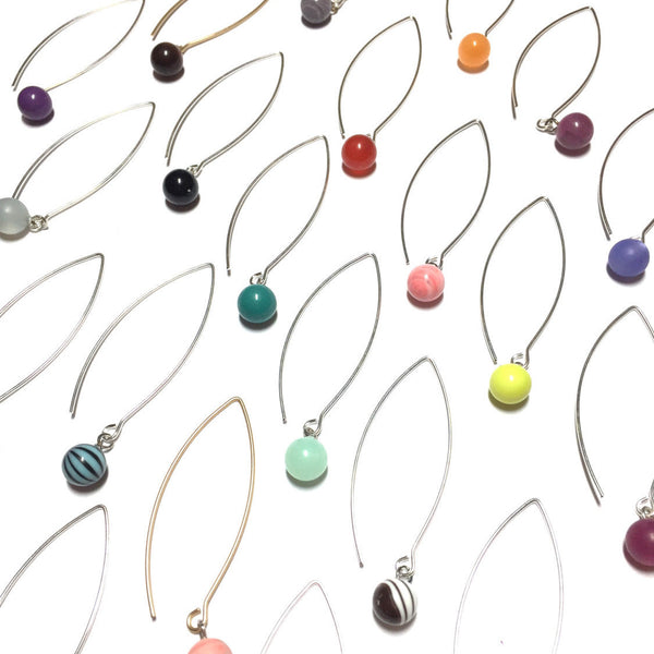 long colorful drop earrings