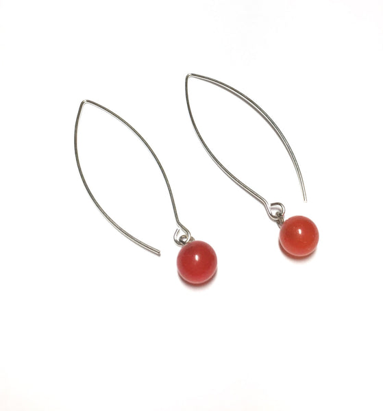 tomato orange earrings