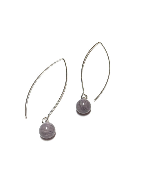 dark grey long earrings