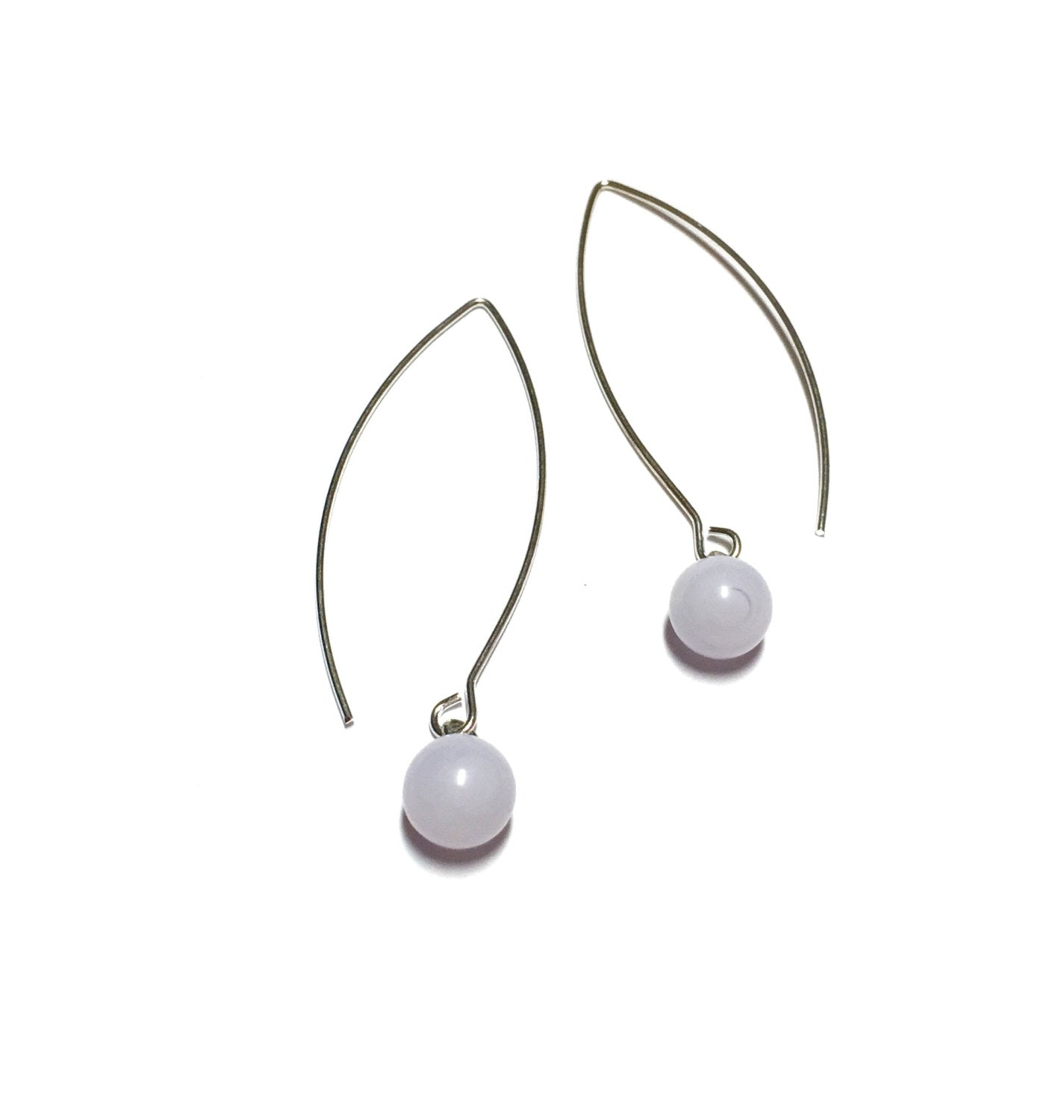 light purple long earrings