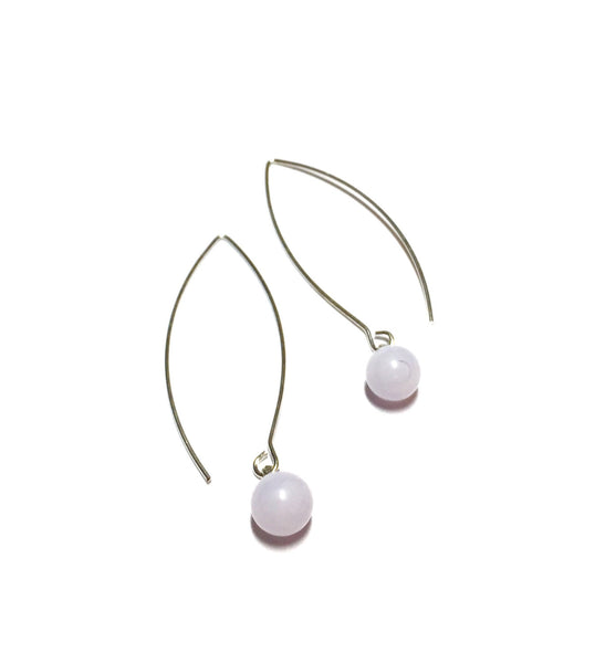 lilac raindrop earrings