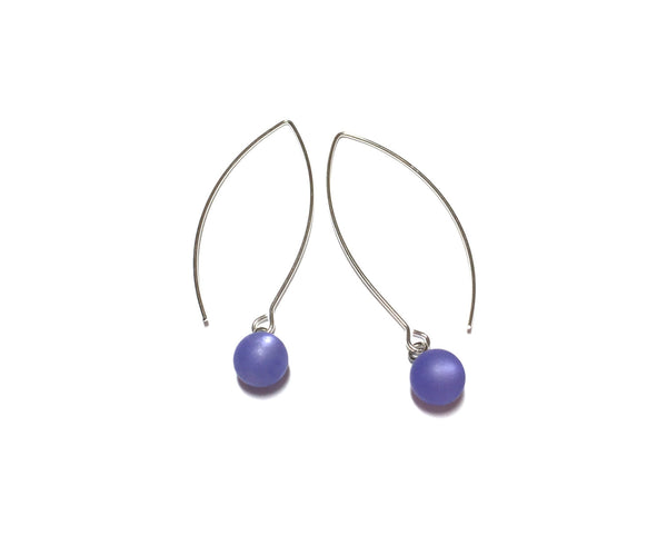 blue moonglow drop earrings