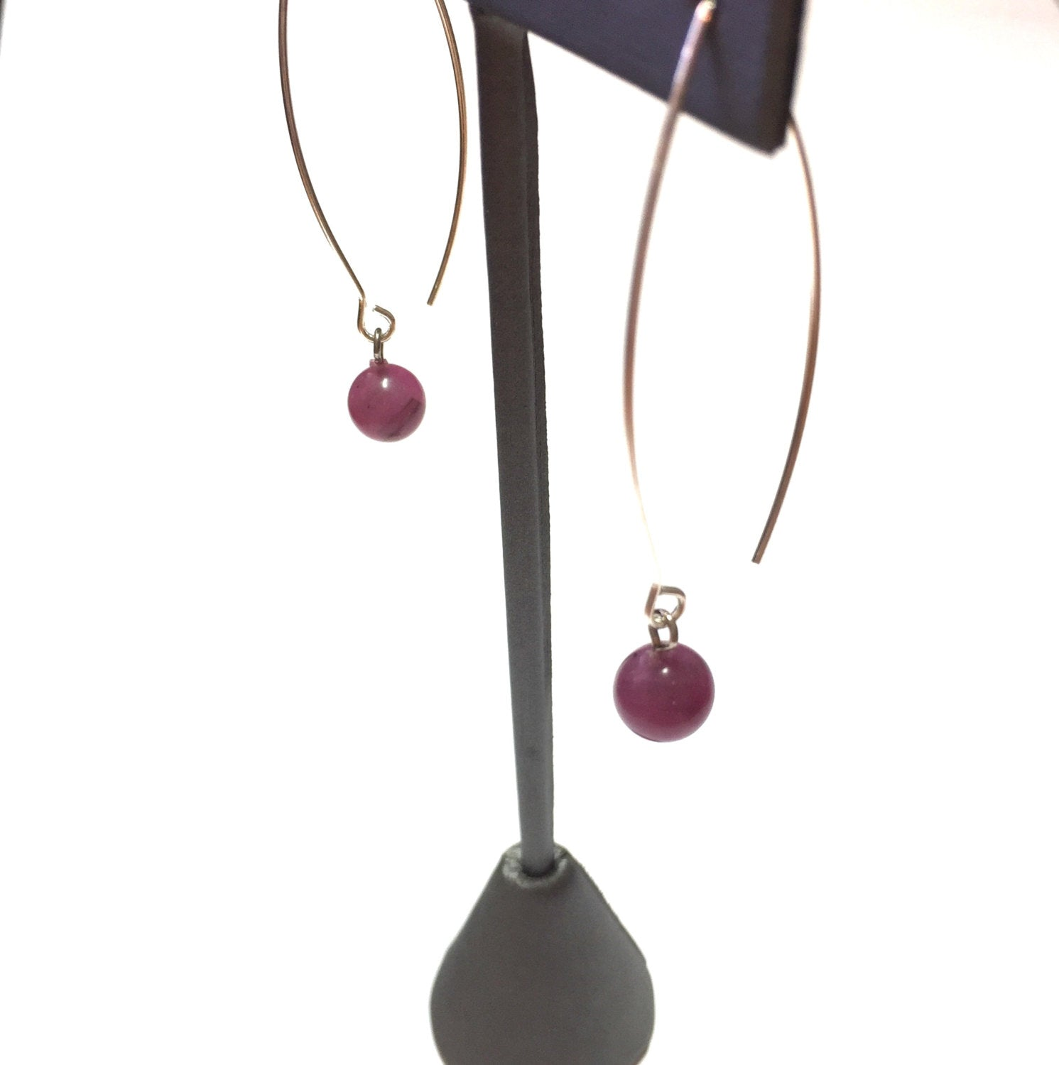 raindrop earrings violet