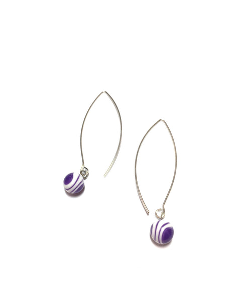 purple earrings long