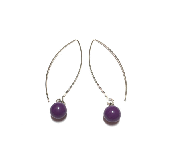 dark purple lucite earrings