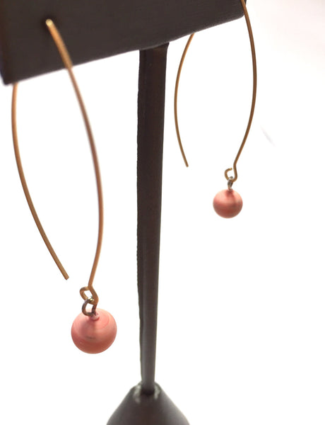 pastel pink long earrings