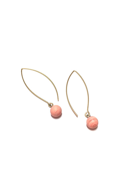 pink raindrop earrings