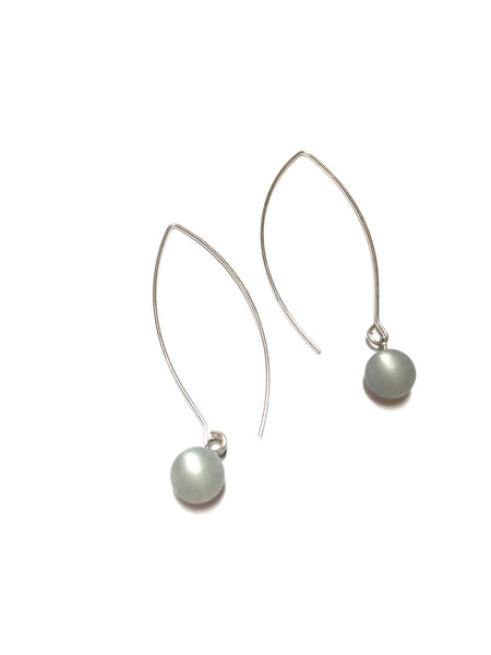 long grey earrings