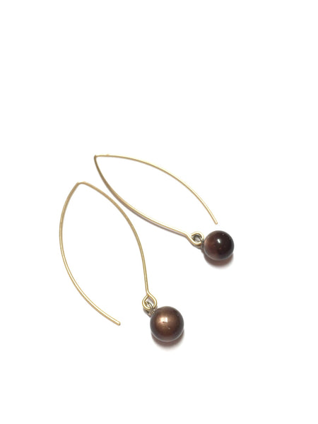 vintage lucite brown earrings