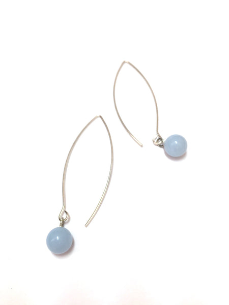 long blue drop earrings