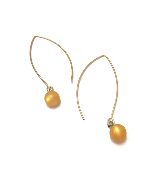 dark gold moonglow earrings