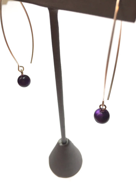 long purple moonglow earrings