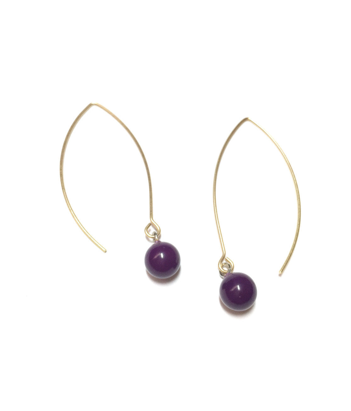 eggplant long earrings