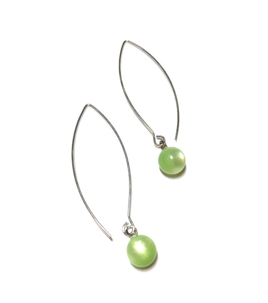 lime moonglow drop earrings
