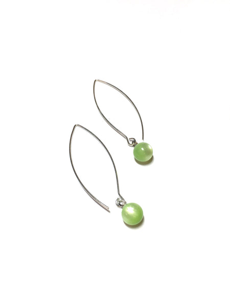lime green raindrop earrings