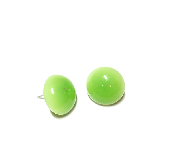chartreuse green earrings
