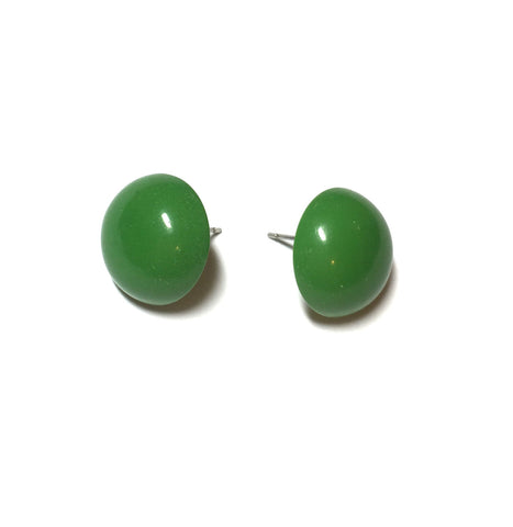 green lucite studs