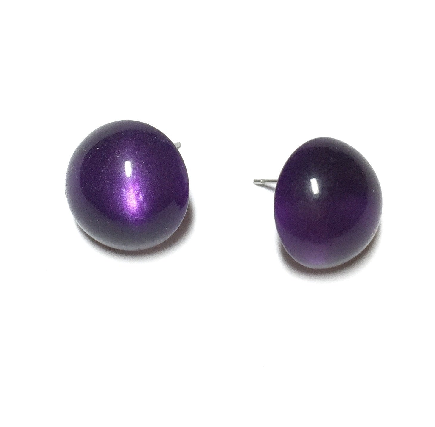 dark purple moonglow earrings