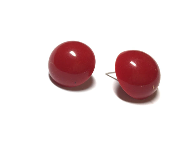 red lucite earrings