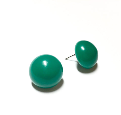 petroleum green earrings