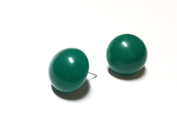 green lucite vintage earrings