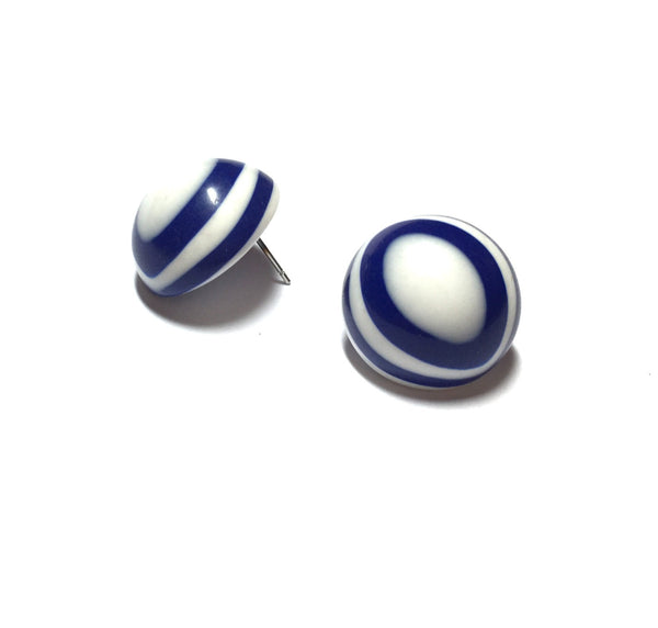 Blue retro earrings