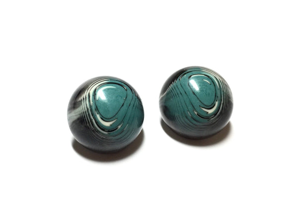 black blue stud earrings