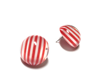 nautical red earrings
