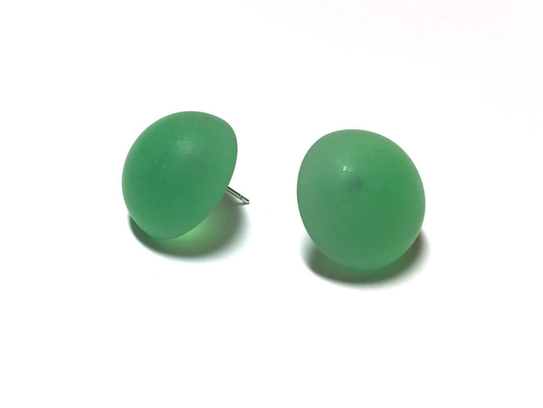 green frosted lucite studs