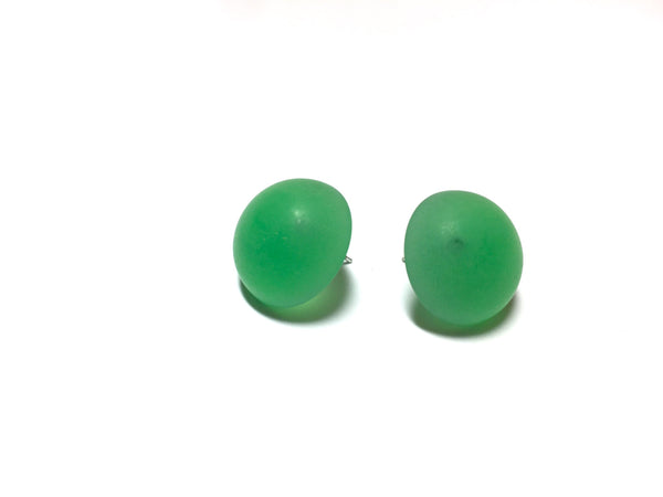 green frosted studs