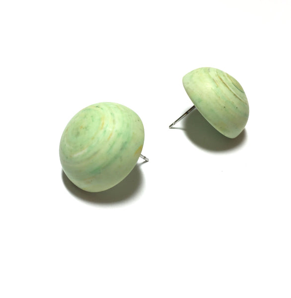 pastel green lucite earrings