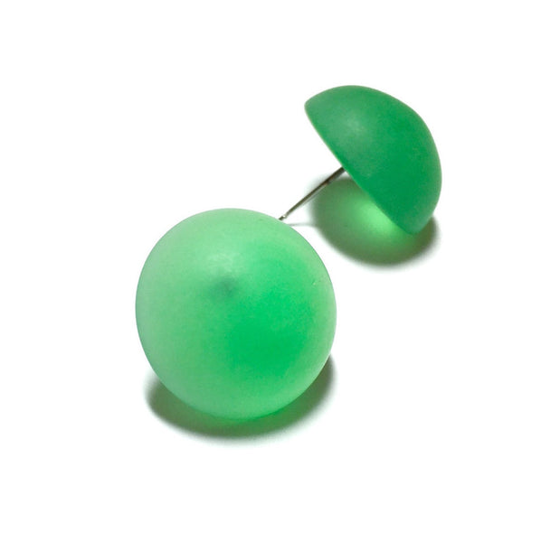 bright green frosted studs