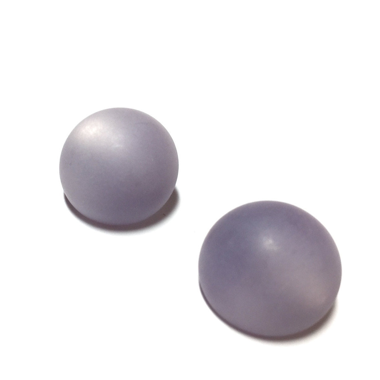 frosted lavender earrings