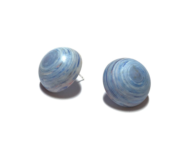 marbled blue studs