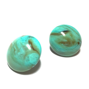 big button studs turquoise