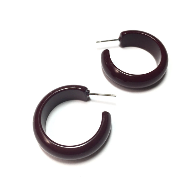 brown simple hoop earrings