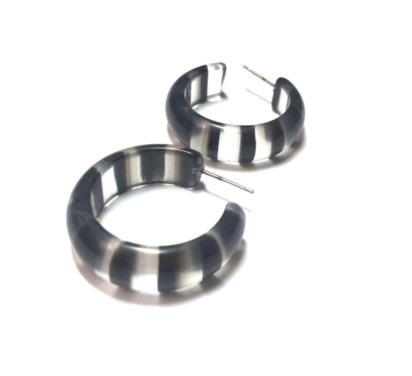 black clear lucite earrings